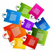 Infographics Colorful Paper Vector Labels