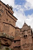 The Walls Of Castle Haut-koenigsbourg In Alsace, France