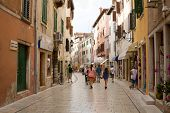 A Lane In The Old Town Of Rovinj