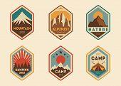 Mountain vintage labels, badges
