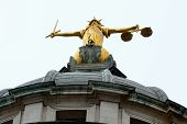 picture of bailey  - Looking up at justice statue old bailey - JPG