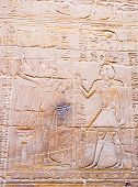 foto of genital  - The erotic picture on the wall of the Luxor Temple Luxor Egypt - JPG