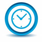 Blue clock icon