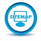 Blue sitemap icon