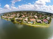 picture of middle class  - Middle class waterfront homes in Florida aerial view  - JPG
