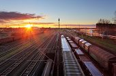 picture of railroad yard  - Train freight  - JPG