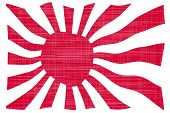 pic of japanese flag  - The rising sun Japanese flag in red and white with grunge effect - JPG
