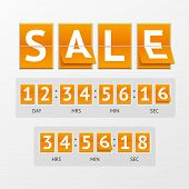 pic of countdown timer  - Vector illustration Countdown Timer Sale - JPG