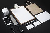 foto of letterhead  - Restaurant letterhead design mockup showing knife - JPG