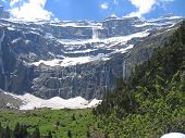 The Gavarnie Circus Mountains With Forests In The Foreground And Many Rivers In The Background, The