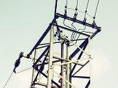 picture of transformer  - Old electric pole with the transformer - JPG