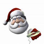 Santa Headphones - Isolated