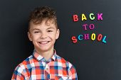 foto of schoolboys  - Back to school concept - JPG