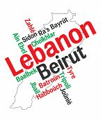 Lebanon Map And Cities