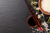 picture of soy sauce  - Japanese sushi chopsticks - JPG