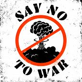 image of stop fighting  - Poster stop war and say no to war - JPG