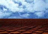 picture of red roof  - Red classic tile roof against blue sky - JPG