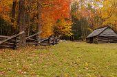Autumn Fence And Barn Alpha