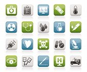 pic of mortuary  - medical tools and health care equipment icons   - JPG