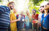 picture of pal  - Friend Celebrate Party Picnic Joyful Lifestyle Drinking Concept - JPG