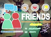 foto of comrades  - Friends Group People Social Media Loyalty Concept - JPG