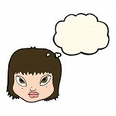 picture of annoyance  - cartoon annoyed face with thought bubble - JPG