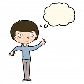 pic of stare  - cartoon staring boy with thought bubble - JPG
