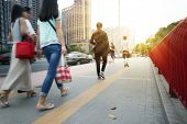 pic of commutator  - People Commuters City Walking Pedestrian Concept - JPG