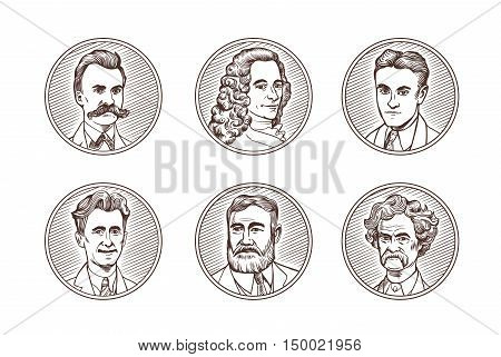 Portraits of famous
