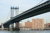 Manhattan Bridge And Manhattan Skyline