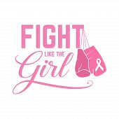 Breast Cancer Awareness Pink Card. poster