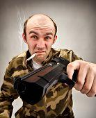 Impudent Bandit With Gun