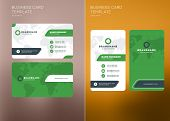 Corporate Business Card Print Template. Vertical And Horizontal Business Card Templates. Vector Illu poster