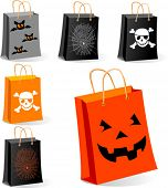 foto of main idea  - Halloween Shopping bags illustration for sales concepts and ideas - JPG