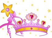 picture of scepter  - Beautiful crown and  magic wand  for true princess - JPG