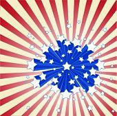 Fundo americano starburst
