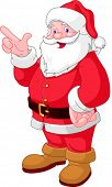 Happy Christmas Santa Claus pointing