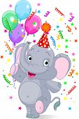 Happy Very Cute baby elephant birthday