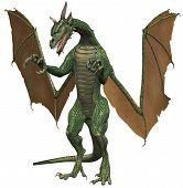 Green Dragon Dinosaur Beast Creature