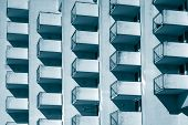 Architectural Pattern - Cubic Balconies poster