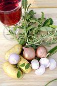 Potatoes Herbs Wine