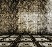 image of linoleum  - old grunge room with linoleum - JPG
