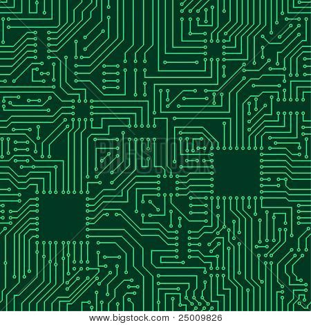 Seamless pattern. Computer circuit board. Poster ID:25009826