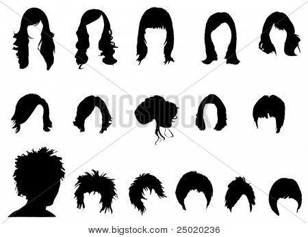 Постер, плакат: Волосы стили, холст на подрамнике