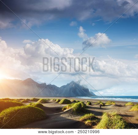 Majestic view of Stokksnes cape