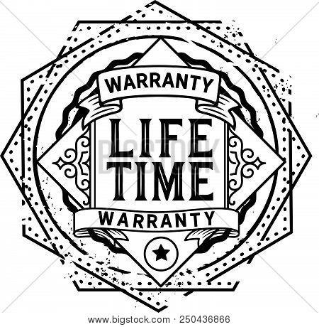 Lifetime Warranty Icon Stamp Badge Icon Guarantee Poster Id250436866