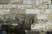 Ancient Stone Masonry Seamless Texture . Perfect For Background poster