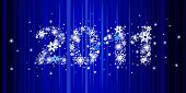 Christmas background with star inscription 2011, this illustration may be usefull to create greeting card or banner.