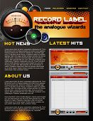 Record Label web design template