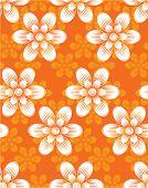 Flowers. Seamless pattern. Vector.